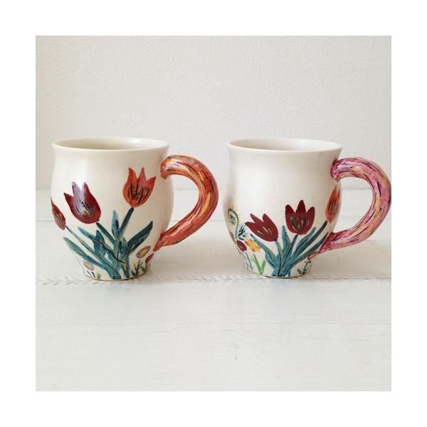 陶器 マグカップ チューリップ 野花 廣川みのり カラフル 作家の器|cayest|02
