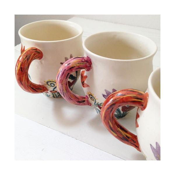 陶器 マグカップ チューリップ 野花 廣川みのり カラフル 作家の器|cayest|03