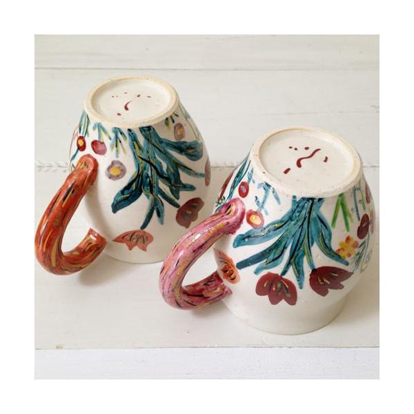 陶器 マグカップ チューリップ 野花 廣川みのり カラフル 作家の器|cayest|04