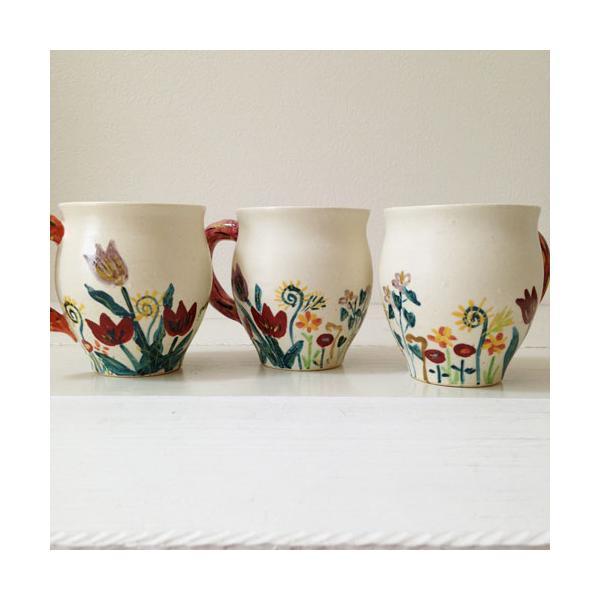 陶器 マグカップ チューリップ 野花 廣川みのり カラフル 作家の器|cayest|06