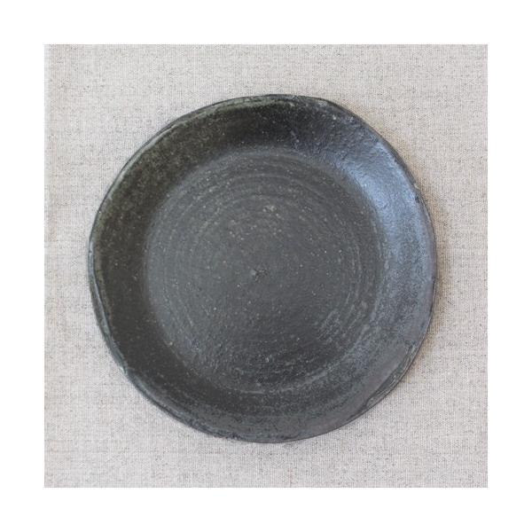 おしゃれ取り皿 小皿 キナリ/黒 丸皿 15cm 信楽焼 食器 和食器|cayest|06