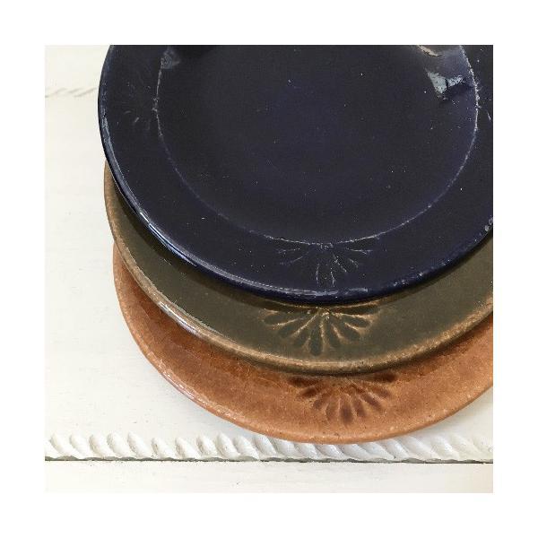 花紋丸皿 小皿 取り皿 銘々皿 14cm 河原崎優子 信楽焼 食器 和食器 おしゃれ|cayest