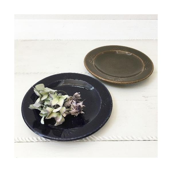 花紋丸皿 小皿 取り皿 銘々皿 14cm 河原崎優子 信楽焼 食器 和食器 おしゃれ|cayest|06