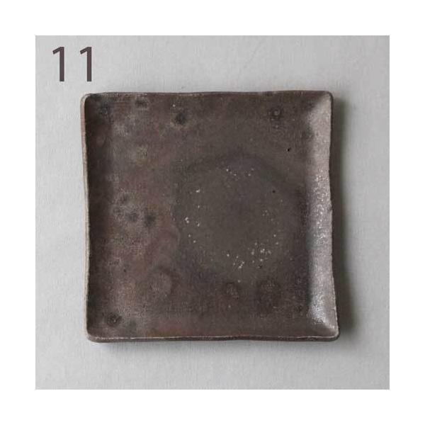 焼き締め 角皿 取り皿 銘々皿 丹波焼 12cm 正方形 食器 和食器|cayest|11