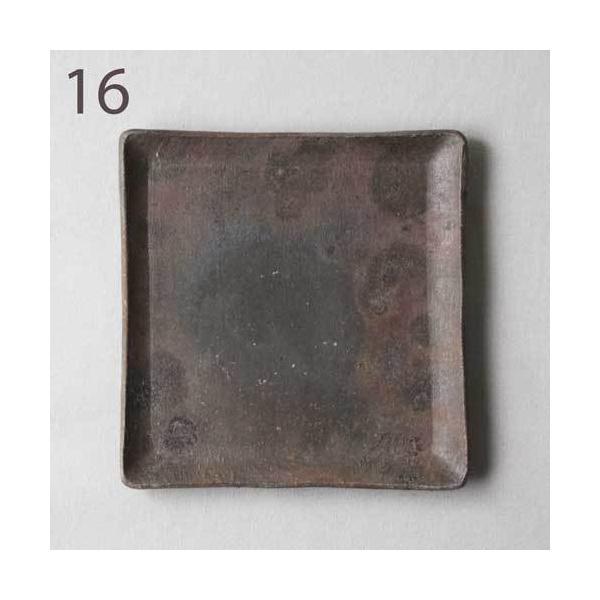 焼き締め 角皿 取り皿 銘々皿 丹波焼 12cm 正方形 食器 和食器|cayest|13