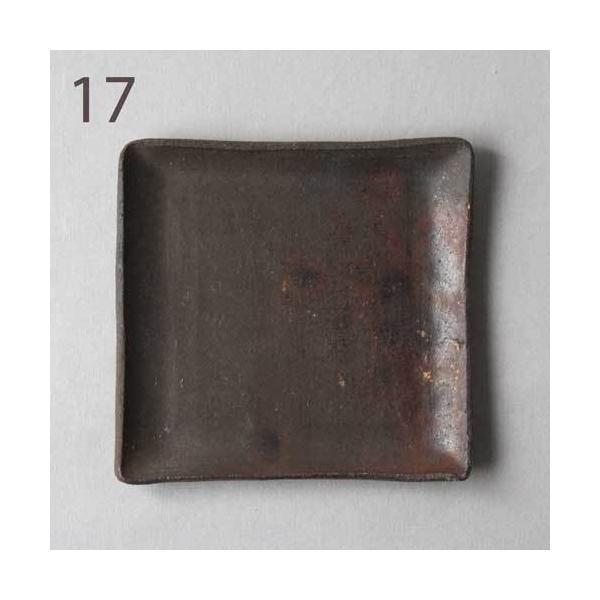焼き締め 角皿 取り皿 銘々皿 丹波焼 12cm 正方形 食器 和食器|cayest|14