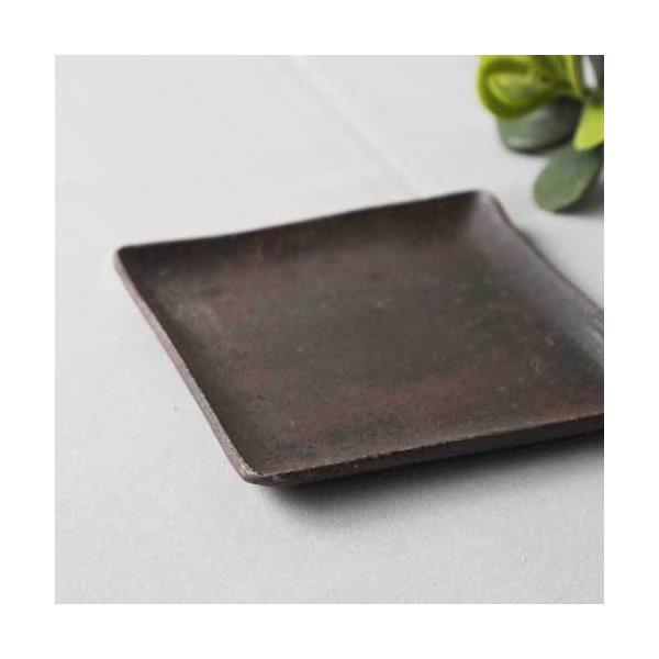 焼き締め 角皿 取り皿 銘々皿 丹波焼 12cm 正方形 食器 和食器|cayest|03