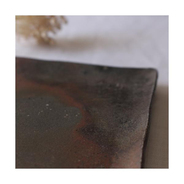 焼き締め 角皿 取り皿 銘々皿 丹波焼 12cm 正方形 食器 和食器|cayest|06