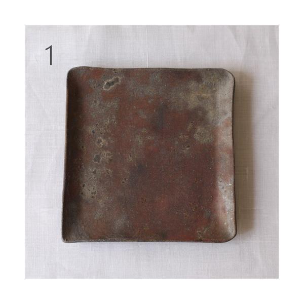焼き締め 角皿 取り皿 銘々皿 丹波焼 12cm 正方形 食器 和食器|cayest|08