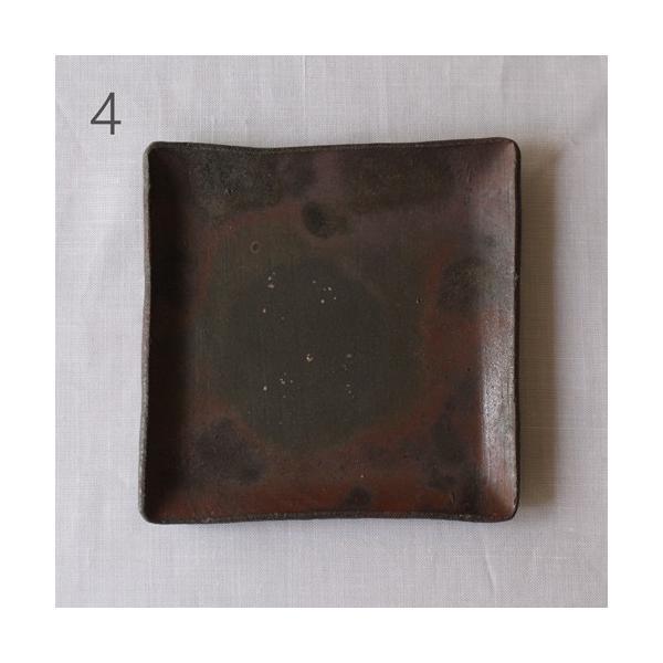 焼き締め 角皿 取り皿 銘々皿 丹波焼 12cm 正方形 食器 和食器|cayest|09