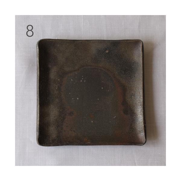 焼き締め 角皿 取り皿 銘々皿 丹波焼 12cm 正方形 食器 和食器|cayest|10