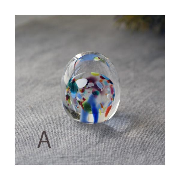 ペーパーウェイト ガラス 文鎮 吹きガラス 手作り tonari|cayest|04