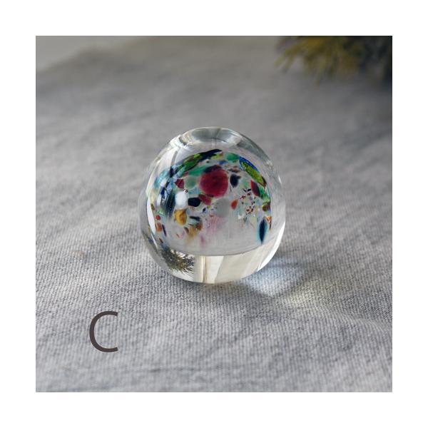 ペーパーウェイト ガラス 文鎮 吹きガラス 手作り tonari|cayest|05