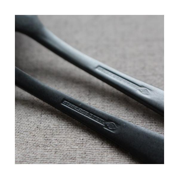 デザートスプーン デザートフォーク カレースプーン ステンレス カトラリー 日本製 黒 マット おしゃれ|cayest|05