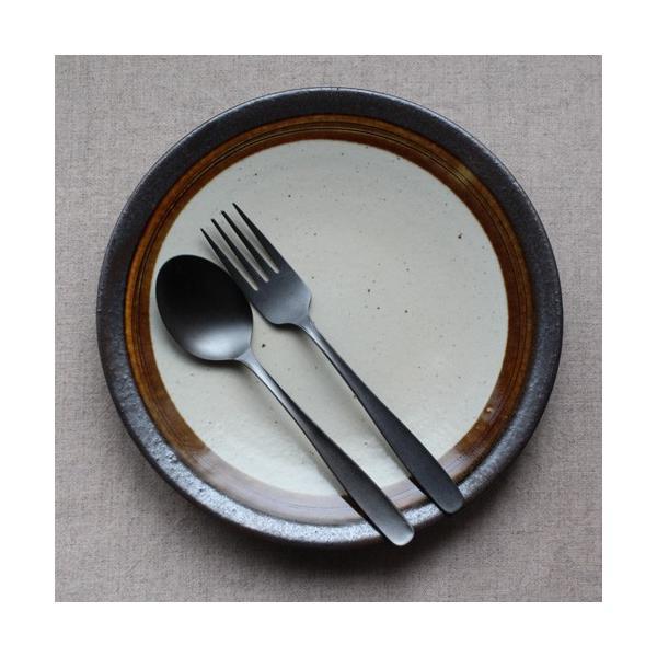 デザートスプーン デザートフォーク カレースプーン ステンレス カトラリー 日本製 黒 マット おしゃれ|cayest|06