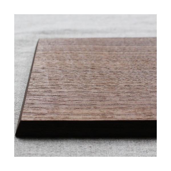 木製プレート お盆 トレイ コースタートレイ スクエア オイル仕上げ 甲斐幸太郎 木の器 cayest 04