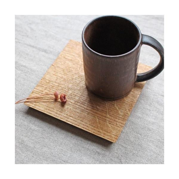 木製プレート お盆 トレイ コースタートレイ スクエア オイル仕上げ 甲斐幸太郎 木の器 cayest 05
