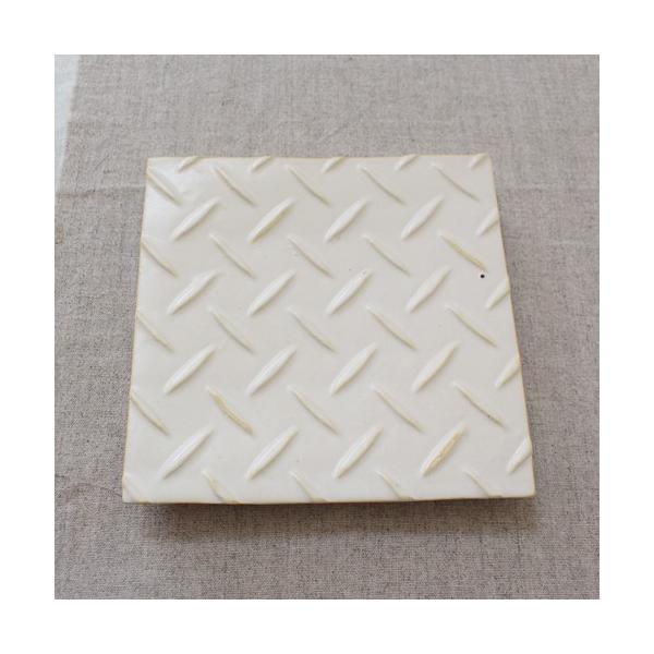 縞陶板 プレート 角皿 三宅直子 16cm 正方形 陶器 和食器 おしゃれ|cayest|02