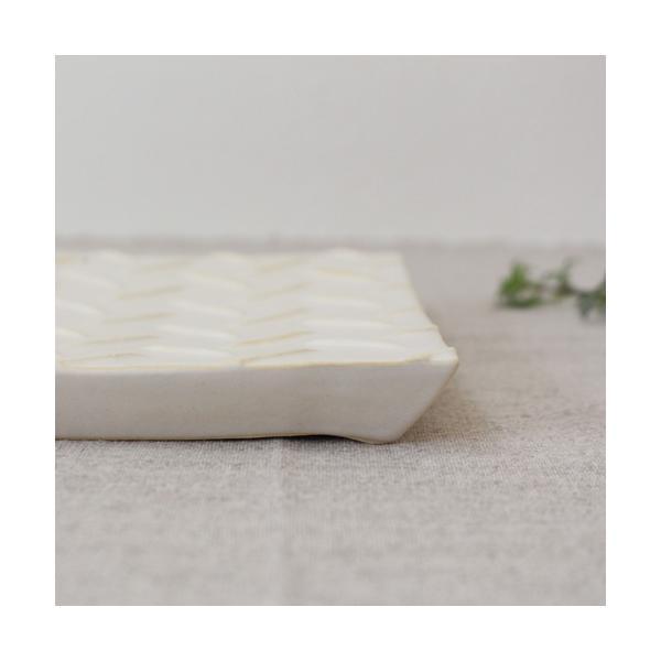 縞陶板 プレート 角皿 三宅直子 16cm 正方形 陶器 和食器 おしゃれ|cayest|03