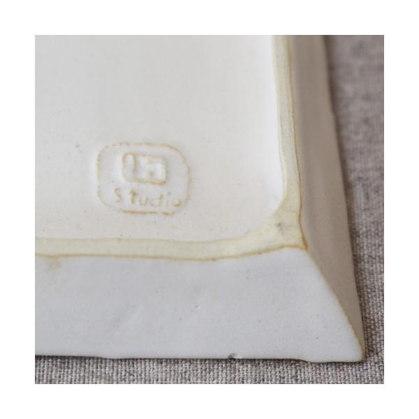 縞陶板 プレート 角皿 三宅直子 16cm 正方形 陶器 和食器 おしゃれ|cayest|04