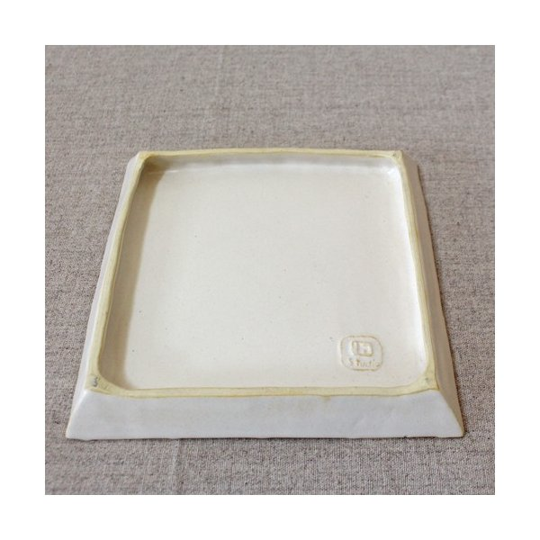 縞陶板 プレート 角皿 三宅直子 16cm 正方形 陶器 和食器 おしゃれ|cayest|05