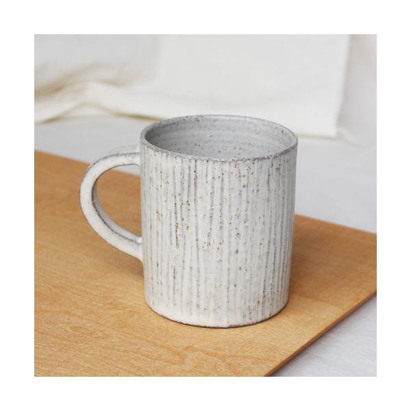 かさねマグカップ 白 陶器 しのぎ 三宅直子 おしゃれ カップ|cayest|03