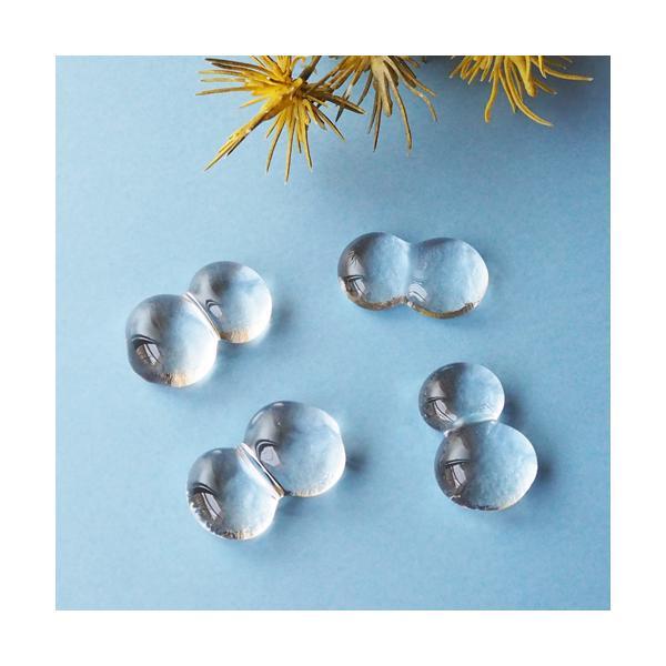 透明 しずく ガラス 箸置き tonari つぶつぶ 吹きガラス 手作り かわいい|cayest