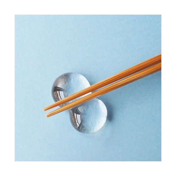 透明 しずく ガラス 箸置き tonari つぶつぶ 吹きガラス 手作り かわいい|cayest|03