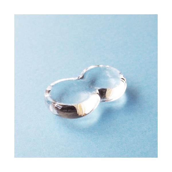透明 しずく ガラス 箸置き tonari つぶつぶ 吹きガラス 手作り かわいい|cayest|04