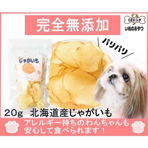 じゃがいもチップス【犬のおやつ 無添加】【犬のおやつ 野菜】 完全無添加 北海道産 ノンフライ・ノンオイル ノンシュガー アレルギーのあるわんちゃんに 20g|cbdog