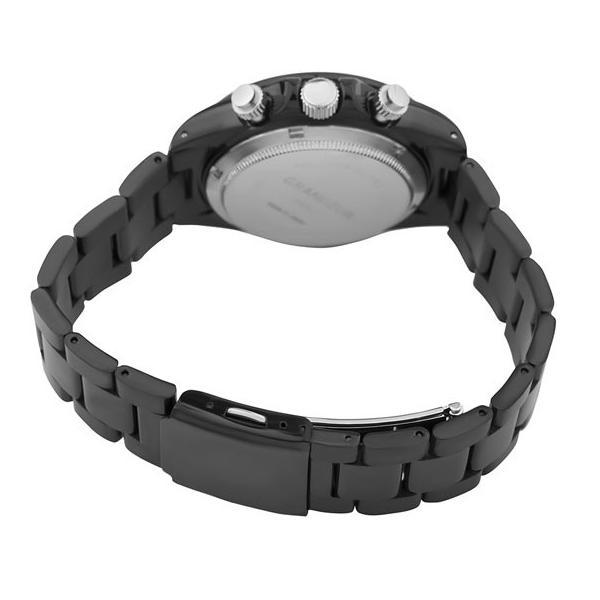 4d5332ce9c ... 日本製 紳士用クロノグラフ腕時計 メタルバンド ステンレス高級無垢素材 GRANDEUR グランドール