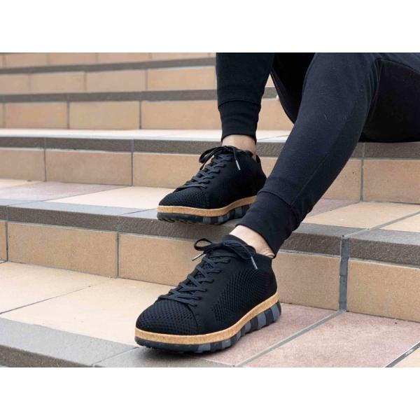 コンフォートシューズ スニーカー メンズ ブラック  ホワイト シューズ 靴 チル ccilu ccilu 09