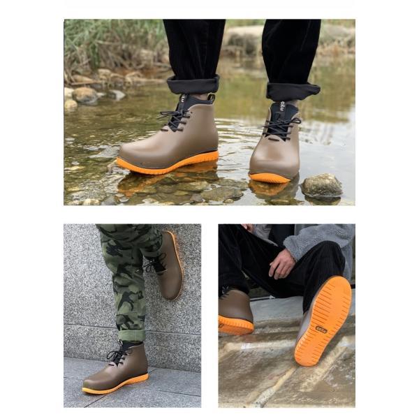 レインシューズ メンズ レインブーツ おしゃれ ショート 防水 雨 長靴 軽量 スニーカー チル ccilu アウトドア|ccilu|12