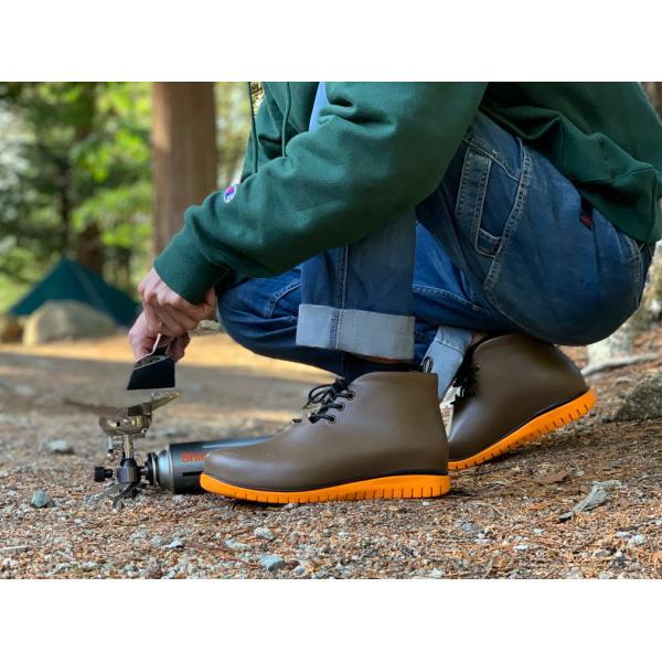 レインシューズ メンズ レインブーツ おしゃれ ショート 防水 雨 長靴 軽量 スニーカー チル ccilu アウトドア|ccilu|14