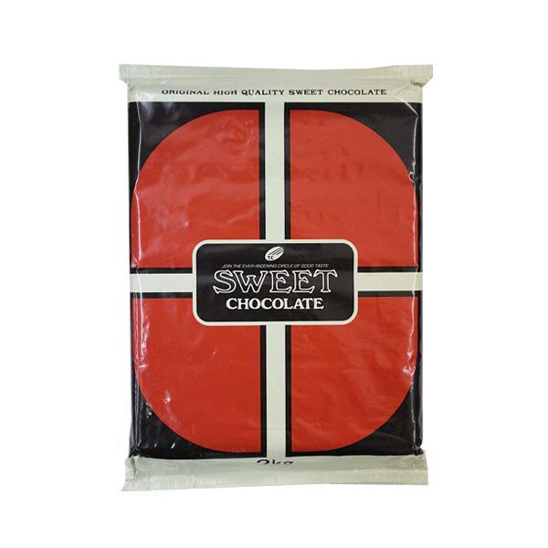 クーベルチュール スイートチョコ 2kg 板チョコ 製菓用 大東カカオ