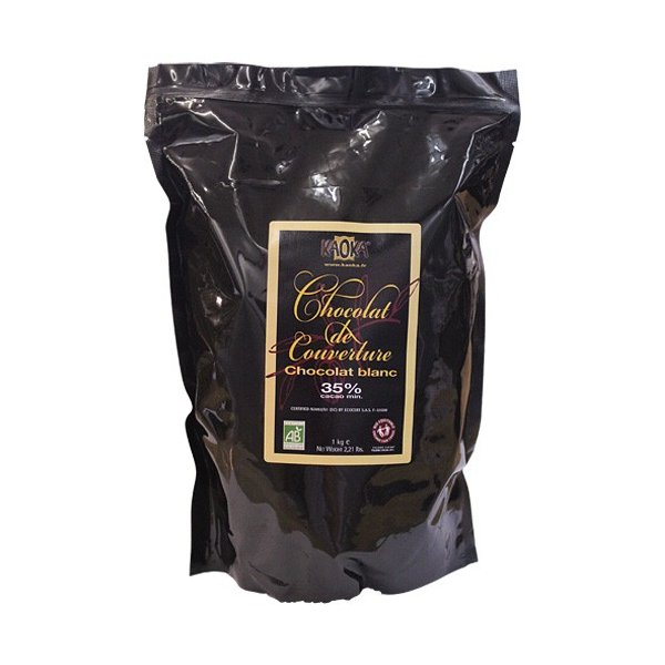 カオカ ブラン アンカ 35% 1kg 有機チョコレート オーガニック クーベルチュール