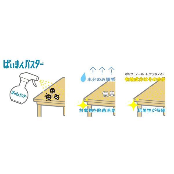 【新ボトル】ばいきんバスター 400ml 天然成分の除菌抗菌スプレー アルコール不使用・塩素不使用・無香料 製造段階から化学物質を完全不使用 ccplus 07