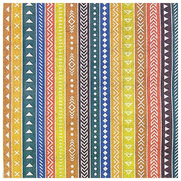 HOME FASHION ペーパーナプキン エスニック ストライプ Ethno Stripes 211820 バラ売り2枚1セット デコパージュ ドリパージュ