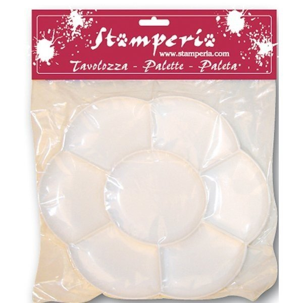 スタンペリア Stamperia イタリア デコパージュ用パレット Plastic Palette with 7 compartments KR12|ccpopo