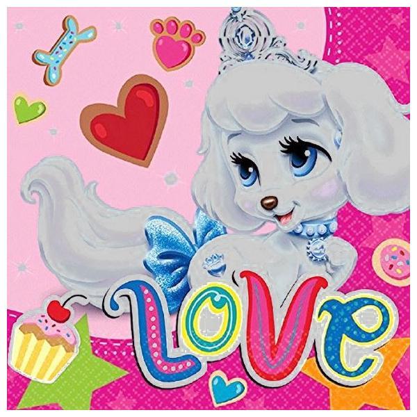 1枚バラ売りペーパーナプキン ディズニープリンセス パレスペット Palace Pets アメリカ製 MADE IN USA 紙ナフキン デコパージュ ドリパージュ ccpopo