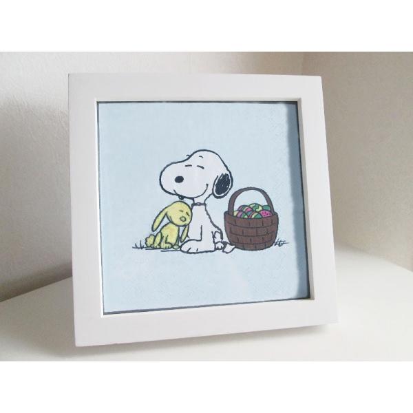 入手困難レア品ドイツ製1枚バラ売りペーパーナプキン スヌーピー SNOOPY PEANUTS Snoopy und Hase 紙ナフキン 33x33cm ドリパージュ デコパージュ|ccpopo|02