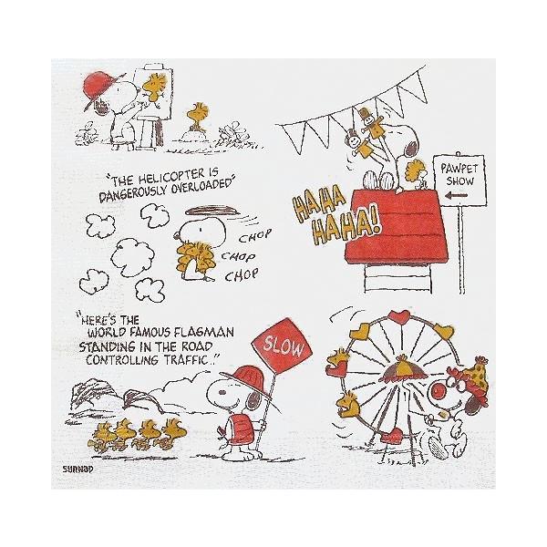 1枚バラ売り全面柄 テーブルデザインペーパー メニーフェイスオブ・スヌーピー  紙ナフキン 日本製 33x34cm ペーパーナプキン デコパージュ|ccpopo