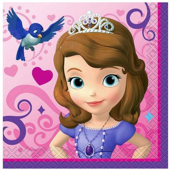 1枚バラ売り25cmペーパーナプキン ちいさなプリンセス ソフィア SOFIA ディズニー Disney MADE IN USA 紙コースター デコパージュ ドリパージュ 44841|ccpopo