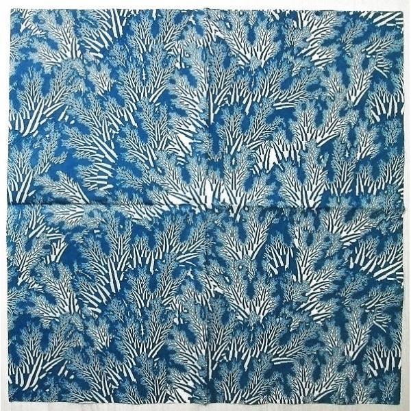 訳ありB級品 1枚バラ売り 廃版 マリメッコ Marimekko ランチサイズペーパーナプキン MERIHEINA blue 北欧 575540 デコパージュ ドリパージュ ccpopo