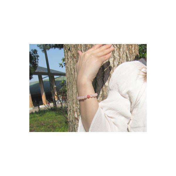 パワーストーン ブレスレット ローズクォーツ インカローズ 天然石|ccr|03