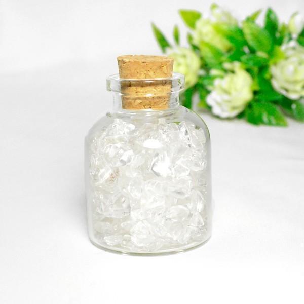送料無料 パワーストーン さざれ石 ガラス小瓶 ローズクォーツ 水晶 タイガーアイ 天然石|ccr|05