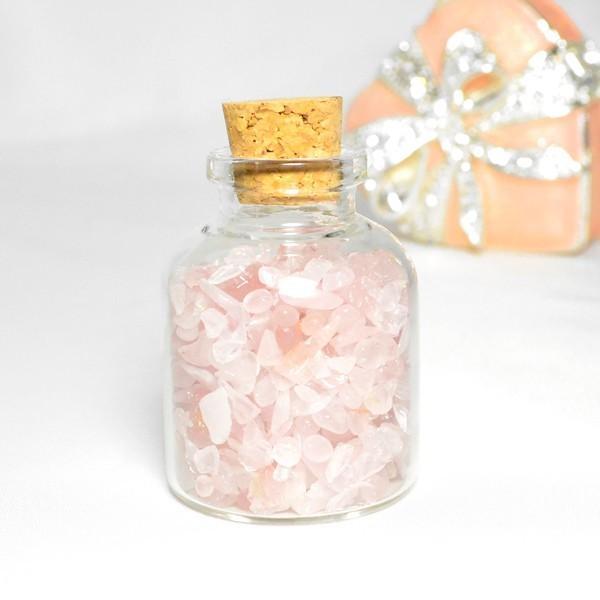 送料無料 パワーストーン さざれ石 ガラス小瓶 ローズクォーツ 水晶 タイガーアイ 天然石|ccr|06