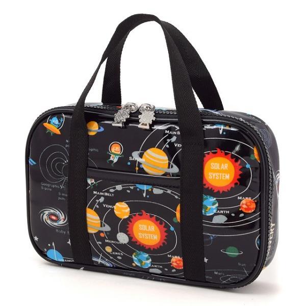 裁縫・ソーイングバッグ 太陽系惑星とコスモプラネタリウム(ブラック)  (裁縫バッグのみ 小学生 裁縫道具 小学校 さいほう)