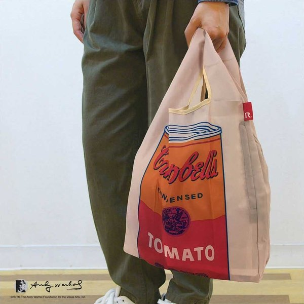 エコバッグ ルートート ルーショッパー アンディ・ウォーホル 折りたたみ ROOTOTE ROO-shopper レギュラーサイズ ポケット付き カモ