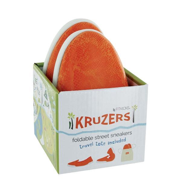 携帯シューズ FIT KICKS KRUZERS スリッパ 携帯用 外履き 室内履き 両対応 フィットキックス クルーザー Lサイズ ター オレンジクラッシュ